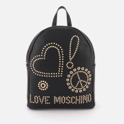 Love Moschino Women's Studded Logo Backpack - Black