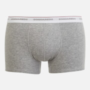 Dsquared2 Men's Jersey Cotton Stretch Trunk Twin Pack Boxers - Light Grey Marl