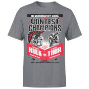 Marvel Contest Of Champions Hulk Vs Thor T-Shirt - Charcoal
