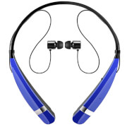 LG Tone Pro Neckband Sports Bluetooth Earphones with Built-In Mic - Blue