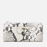 Guess Women's Bobbi Slim Zip Wallet - Natural Python
