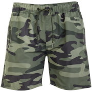 Crosshatch Men's Camo Swim Shorts - Green Camo