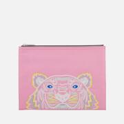 KENZO Women's Icon A4 Pouch - Flamingo Pink