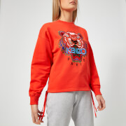 KENZO Women's Embossed Tiger Unbrushed Molleton Sweatshirt - Medium Red