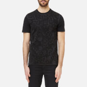 Versace Collection Men's Mesh Detail T-Shirt - Nero