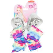 JoJo Siwa Bow Set - Silver/Tie Dye Rainbow