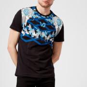 Versace Jeans Men's Neck Print T-Shirt - Nero