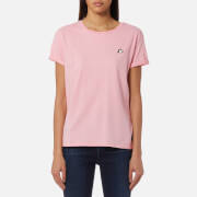 Maison Scotch Women's Felix Ams Blauw Basic T-Shirt - Japanese Apricot