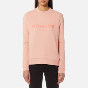 Maison Scotch Women's Club Nomade Crew Neck Sweatshirt - Rose White