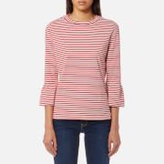 Maison Scotch Women's Clean Flared Short Sleeve T-Shirt - Red