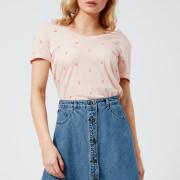 Maison Scotch Women's Allover Printed Short Sleeve T-Shirt - Pink