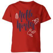 Hello Winter Kids' T-Shirt - Red