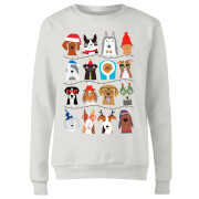 Merry Dogmas Women's Sweatshirt - White