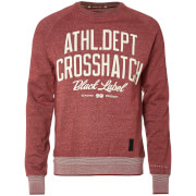 Sweat Homme Truman Crosshatch - Rouge