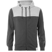 Crosshatch Men's Mullsion Zip Through Hoody - Dark Grey Marl