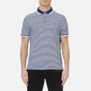 Michael Kors Men's Stripe Greenwich Logo Jacquard Polo Shirt - Bright Navy