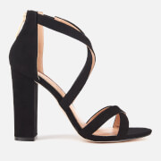 Miss KG Women's Faun Suedette Strappy Heeled Sandals - Black