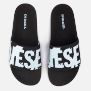 Diesel Men's Sa-Maral Slide Sandals - Black/White
