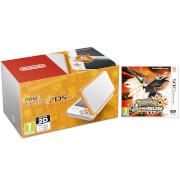 New Nintendo 2DS XL Orange & White with Pokemon Ultra Sun