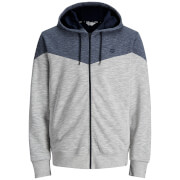 Jack & Jones Men's Core Chevron Zip Through Hoody - White