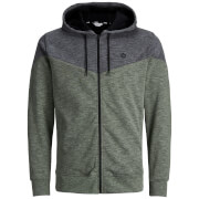 Jack & Jones Men's Core Chevron Zip Through Hoody - Thyme