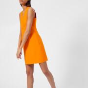 MSGM Women's V Neck Mini Dress - Orange