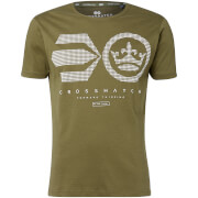 Crosshatch Men's Crisscross T-Shirt - Dusty Olive