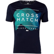 T-Shirt Homme Waveform Crosshatch - Bleu Marine