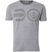 Crosshatch Men's Crisscross T-Shirt - Light Grey Marl