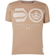 Crosshatch Men's Crisscross T-Shirt - Timber Wolf