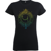 Harry Potter Wingardium Leviosa Swish And Flick Women's Black T-Shirt