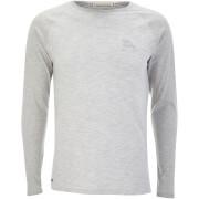 Tokyo Laundry Men's Harwood Long Sleeve Raglan Top - Light Grey Marl