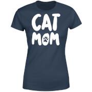 Cat Mom Women's T-Shirt - Navy