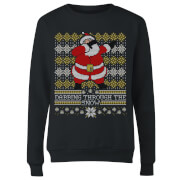 Dabbing through the snow Fair Isle Women's Sweatshirt - Black