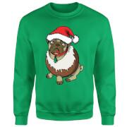 Christmas Puggin Sweatshirt - Grün