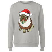 Christmas Puggin Women's Sweatshirt - Grey