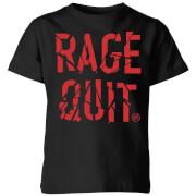 Rage Quit Kids' T-Shirt - Black