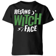 Resting Witch Face Kids' T-Shirt - Black