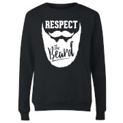 Respect the Beard Women's Sweatshirt - Black