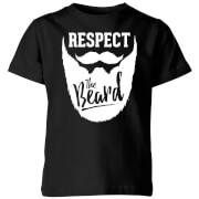 Respect the Beard Kids' T-Shirt - Black