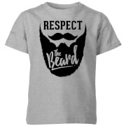 Respect the Beard Kids' T-Shirt - Grey