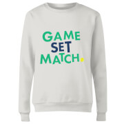 Game Set Match Women's Sweatshirt - White