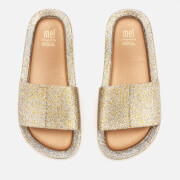 Mini Melissa Kids' Beach Slide Sandals - Gold Glitter