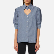 Vivienne Westwood Anglomania Women's Puff Heart Blouse - Blue