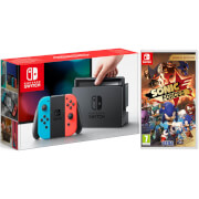 Nintendo Switch Console with Neon Red/Blue Joy-Con & Sonic Forces