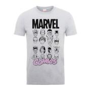 T-Shirt Homme Multi-Visages - Marvel Comics - Gris