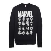 Marvel Multi Heads Men's Black Sweatshirt