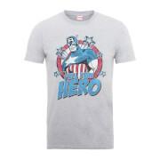 Marvel Comics Captain Amercia Full Time Hero Men's Grey T-Shirt
