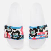 Hunter Women's Original Floral Stripe Adjustable Slide Sandals - Floral Stripe/Peony
