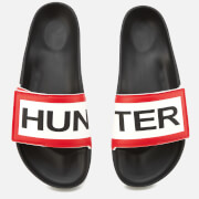 Hunter Men's Original Adjustable Logo Slide Sandals - Black